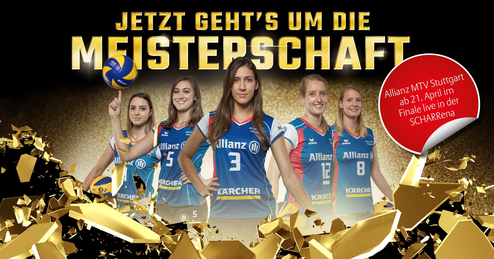 Allianz Motiv für das Playoff Finale von Allianz MTV Stuttgart