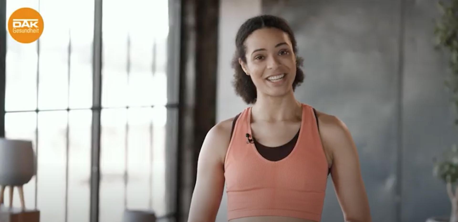 Workout mit Marie-Laurence Jungfleisch