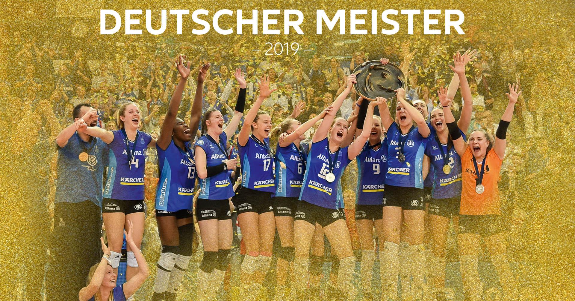 Allianz MTV Stuttgart: Deutscher Meister 2019!