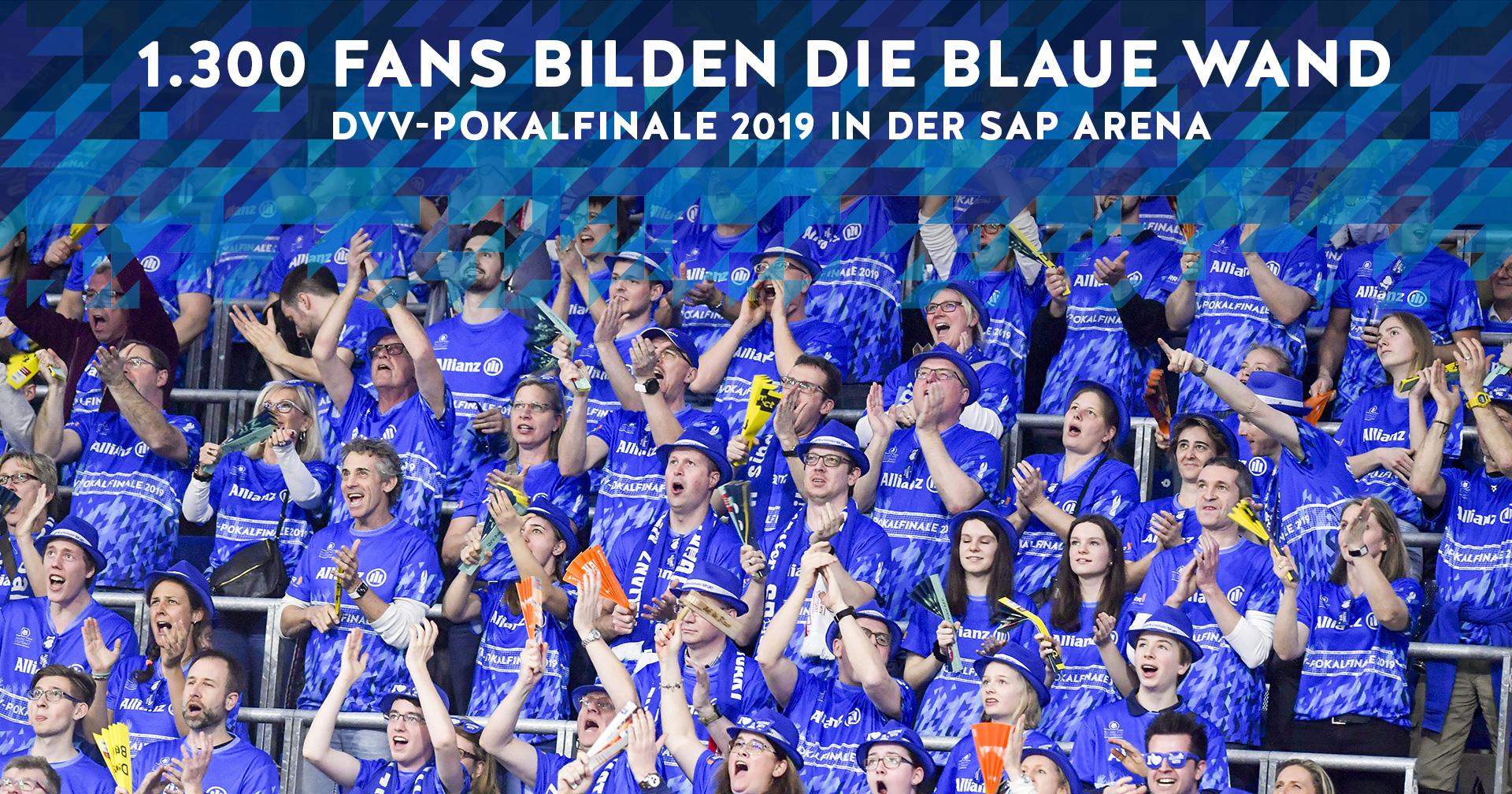 Rekord: Riesiger blauer Fanblock beim Pokalfinale
